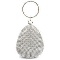 Torebki klasyczne damskie: Torebka w kolorze srebrnym – (S)16 x (W)19 x (G)7 cm