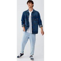 Ciemnoniebieska kurtka jeansowa vintage. Niebieskie kurtki męskie jeansowe marki Reserved, l. Za 96,90 zł.