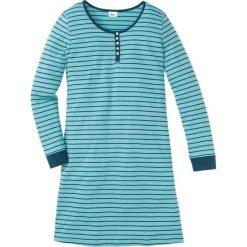 Koszula nocna, bawełna organiczna bonprix niebieskozielony - zielony w paski. Niebieskie koszule nocne i halki bonprix, w paski, z bawełny. Za 59,99 zł.