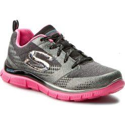 Buty SKECHERS - Glimmerama 81874L/BKHPA Black/Hot Pink. Szare buty do fitnessu damskie Skechers, z materiału. W wyprzedaży za 169,00 zł.