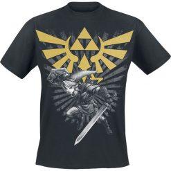 The Legend Of Zelda Triforce Link T-Shirt czarny. Czarne t-shirty męskie z nadrukiem The Legend Of Zelda, l. Za 74,90 zł.