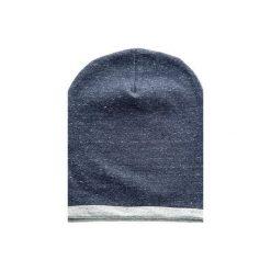 DRESOWA CZAPKA BEANIE GRANATOWY MELANŻ. Niebieskie czapki zimowe damskie CADOaccessories, melanż, z bawełny. Za 49,00 zł.