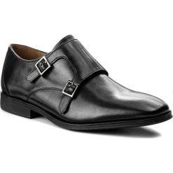 Półbuty CLARKS - Gilman Step 261276647 Black Leather. Czarne derby męskie Clarks, z materiału. W wyprzedaży za 319,00 zł.