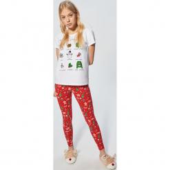 Piżama - Czerwony. Czerwone piżamy damskie marki DOMYOS, z elastanu. Za 79,99 zł.