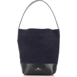 Torebka damska 87-4E-215-7. Niebieskie torebki klasyczne damskie Wittchen, z zamszu, zamszowe. Za 459,00 zł.