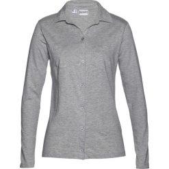 Bluzka shirtowa bonprix jasnoszary melanż. Szare bluzki longsleeves marki bonprix, melanż, z dżerseju. Za 39,99 zł.