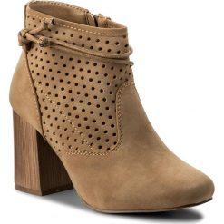 Botki JENNY FAIRY - WS17058 Beżowy. Brązowe buty zimowe damskie marki Jenny Fairy, z materiału. W wyprzedaży za 99,99 zł.
