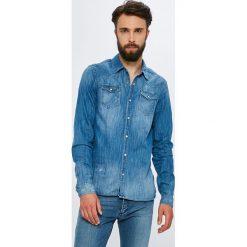 Scotch & Soda - Koszula. Szare koszule męskie jeansowe marki Scotch & Soda, l, z klasycznym kołnierzykiem, z długim rękawem. W wyprzedaży za 399,90 zł.