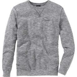 Sweter Regular Fit bonprix dymny szary - biały melanż. Szare swetry klasyczne męskie marki bonprix, l, melanż, z kontrastowym kołnierzykiem. Za 74,99 zł.
