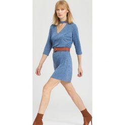 Ciemnoniebieska Sukienka So Excited!. Niebieskie sukienki hiszpanki other, m, midi. Za 49,99 zł.