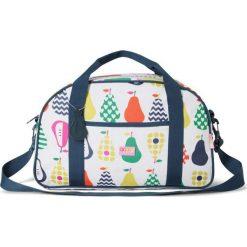 Penny Scallan - Torba weekendowa biało - granatowa w gruszki. Białe torby plażowe Penny Scallan, z bawełny. W wyprzedaży za 162,00 zł.