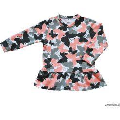 Sukienki dziewczęce: Sukienka w różowo-szare motylki 68-134 / BUGZY