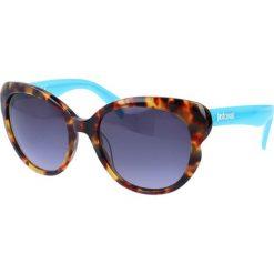 """Okulary przeciwsłoneczne damskie aviatory: Okulary przeciwsłoneczne """"JC656S 53W"""" w kolorze brązowo-jasnoniebieskim"""