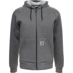 Bluzy męskie: Carhartt WIP CARLUX HOODED Bluza rozpinana dark grey heather