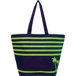 """Torba plażowa """"Bahia"""" w kolorze granatowo-żółtym - 35 x 58 x 23 cm. Niebieskie torby plażowe Le Comptoir de la Plage, z tworzywa sztucznego. W wyprzedaży za 38,95 zł."""