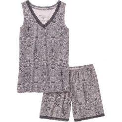 Piżamy damskie: Piżama z dłuższymi szortami bonprix jasnoróżowo-szary z nadrukiem