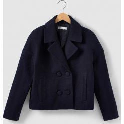 Krótki płaszcz 10-16 lat. Szare kurtki chłopięce La Redoute Collections, z materiału, krótkie. Za 163,80 zł.