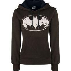 Bluzy rozpinane damskie: Batman Logo Bluza z kapturem damska czarno-brązowy