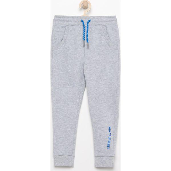 Spodnie chłopięce: Spodnie dresowe - Jasny szar
