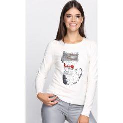 Swetry klasyczne damskie: Kremowy Sweter For Yourself