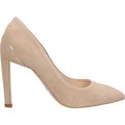 Czółenka ANET. Czerwone buty ślubne damskie marki Gino Rossi, ze skóry, na wysokim obcasie, na szpilce. Za 249,90 zł.