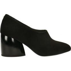 Czółenka LENA. Czarne buty ślubne damskie Gino Rossi, ze lnu. Za 399,90 zł.
