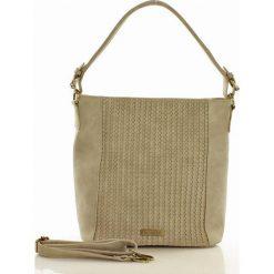 Klasyczna torebka z plecionką szara KYLIE. Szare torebki klasyczne damskie Monnari, w paski, ze skóry ekologicznej. Za 169,00 zł.