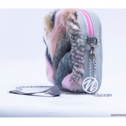 Mini torebka Nerka 2W1 na pas Pastelove. Szare torebki klasyczne damskie Pakamera, w paski. Za 160,00 zł.