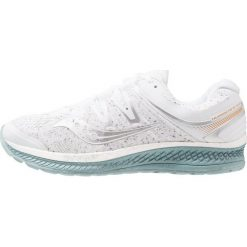 Saucony HURRICANE ISO 4 Obuwie do biegania Stabilność white. Białe buty do biegania damskie Saucony, z gumy. Za 719,00 zł.