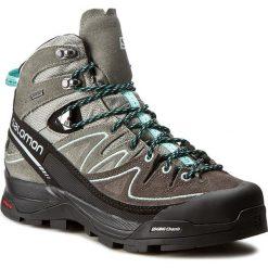 Trekkingi SALOMON - X Alp Mid Ltr Gtx W GORE-TEX 394732 21 V0 Shadow/Castor Gray/Aruba Blue. Szare buty trekkingowe damskie marki Salomon, z gore-texu, na sznurówki, outdoorowe, gore-tex. W wyprzedaży za 529,00 zł.