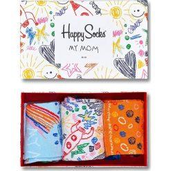 Happy Socks - Skarpetki Mothers Day Gift Box (3-pak). Szare skarpetki damskie Happy Socks, z bawełny. W wyprzedaży za 69,90 zł.