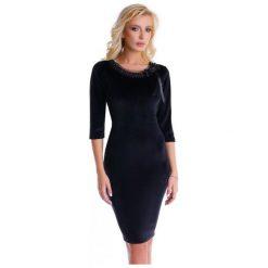 Natalee Sukienka Damska, Xl, Czarna. Czarne sukienki z falbanami Natalee, xl, z kokardą. Za 219,00 zł.