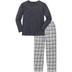 Piżama bonprix antracytowy melanż w kratę. Szare piżamy męskie bonprix, l, melanż. Za 74,99 zł.