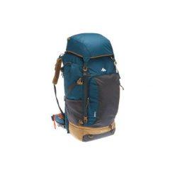 Plecak trekkingowy Travel 70 l męski. Szare plecaki męskie marki FORCLAZ, z materiału. Za 449,99 zł.