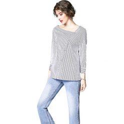 Bluzki damskie: Bluzka w kolorze biało-czarnym