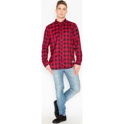 Koszule męskie na spinki: Visent Koszula męska  V026 Czerwona r.  XXL
