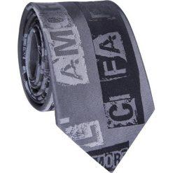 Krawat jedwabny KWSR009003. Szare krawaty męskie marki Reserved, w paski. Za 169,00 zł.