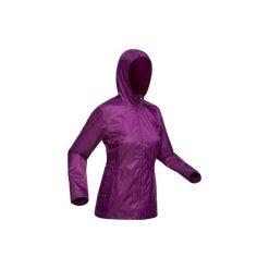 Kurtka turystyczna SH 100 Warm damska. Fioletowe kurtki damskie marki DOMYOS, l, z bawełny. Za 79,99 zł.
