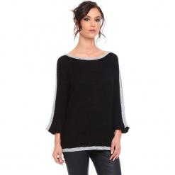 """Sweter """"Cecile"""" w kolorze czarnym. Czarne swetry klasyczne damskie marki Cosy Winter, s, ze splotem, z okrągłym kołnierzem. W wyprzedaży za 159,95 zł."""