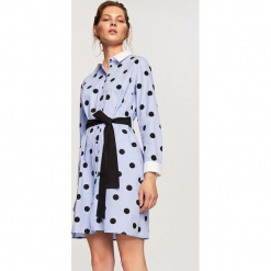Sukienka w kropki - Wielobarwn. Szare sukienki marki Reserved, w kropki. W wyprzedaży za 69,99 zł.