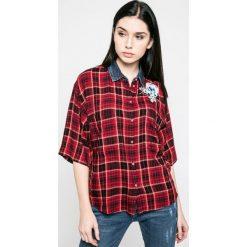 Diesel - Koszula. Szare koszule damskie Diesel, m, z bawełny, casualowe, z klasycznym kołnierzykiem, z krótkim rękawem. W wyprzedaży za 329,90 zł.