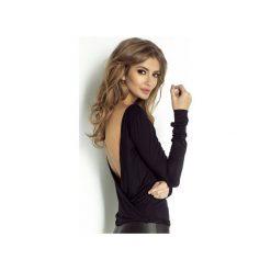 Bluzka Isabell. Czarne bluzki damskie marki Wow fashion, l, z dekoltem na plecach, z długim rękawem. Za 199,00 zł.