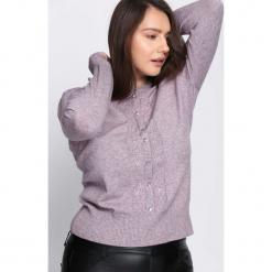 Ciemnofioletowy Sweter Reveal of My Heart. Szare swetry klasyczne damskie Born2be, xl, z okrągłym kołnierzem. Za 69,99 zł.