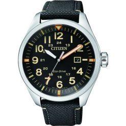 ZEGAREK CITIZEN Military AW5000-24E. Niebieskie, analogowe zegarki męskie CITIZEN, sztuczne. Za 590,00 zł.