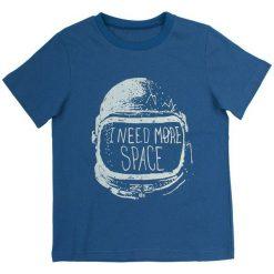 Garnamama Koszulka Chłopięca 128 Niebieski. Niebieskie t-shirty chłopięce marki Garnamama, z napisami, z bawełny. Za 42,00 zł.