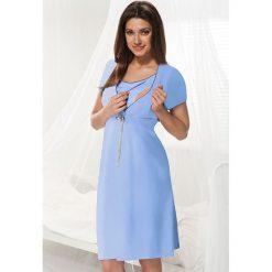 Bielizna ciążowa: Niebieska koszula nocna dla ciężarnych i karmiących Dorota