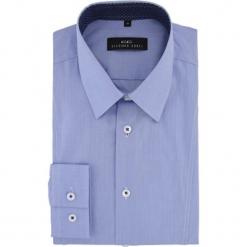 Koszula MICHELE 15-07-18-K. Niebieskie koszule męskie na spinki Giacomo Conti, m, z bawełny, z klasycznym kołnierzykiem, z długim rękawem. Za 229,00 zł.