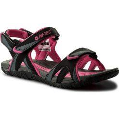 Sandały HI-TEC - Aline Wo's AVSSS18-HT-01-Q2 Dark Grey/Fuchsia/Black. Czarne sandały damskie Hi-tec, z materiału. W wyprzedaży za 129,99 zł.