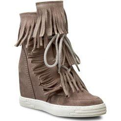 Sneakersy R.POLAŃSKI - 0818 Beż Cappucino. Czarne botki damskie skórzane marki R.Polański, na obcasie. W wyprzedaży za 279,00 zł.