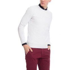 Swetry męskie: Sweter w kolorze białym